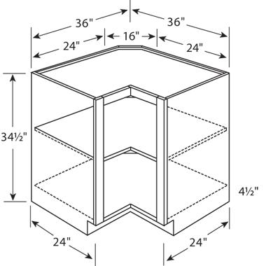 Corner Cabinets For Kitchen Dimensions