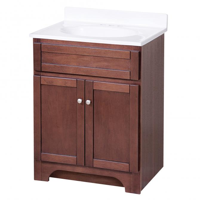 Columbia Espresso 24in Vanity Combo With Top