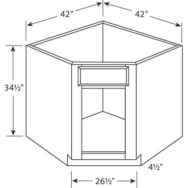 Single Door Corner Sink Base Cabinet Planet Granite