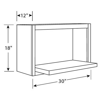 18 High X 12 Deep Microwave Wall Cabinets