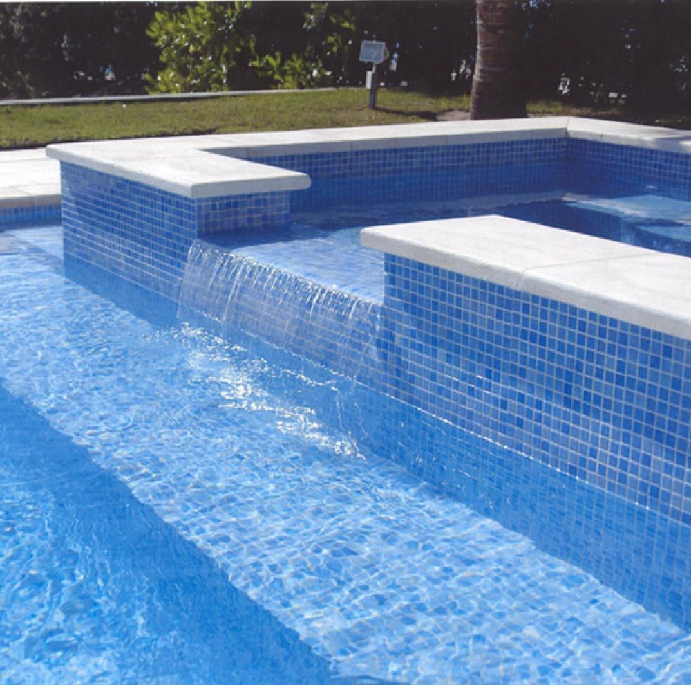 Pool tile flooring planet granite for Pool design tiles