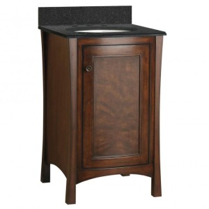 Saville French Roast 22in Vanity Combo (with top)