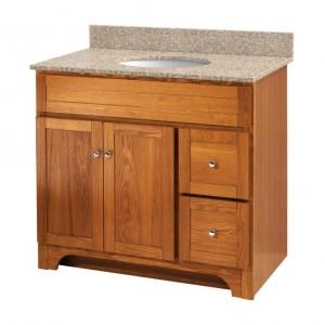 Worthington Oak 36in Vanity (no top)