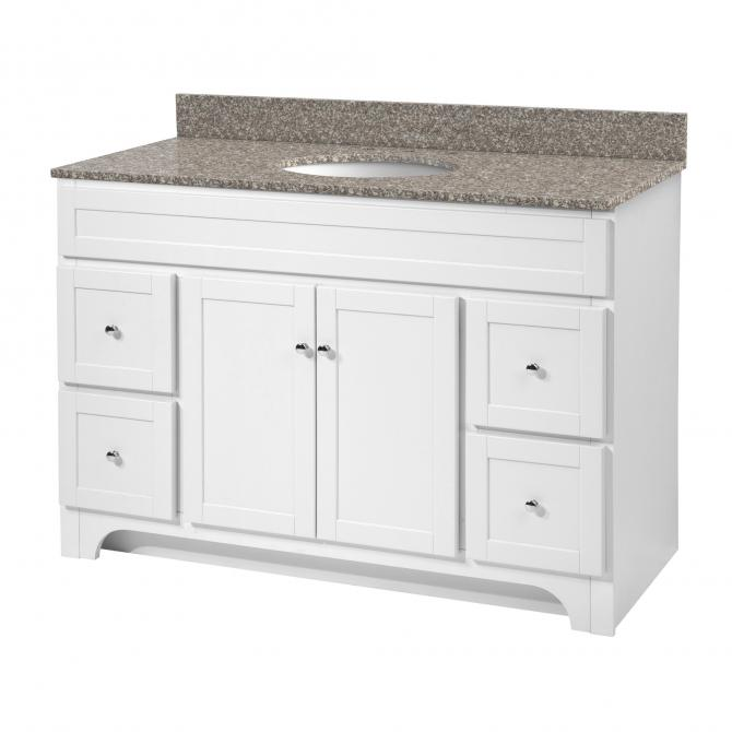 Worthington 48 vanity no top planet granite - 48 inch white bathroom vanity with top ...